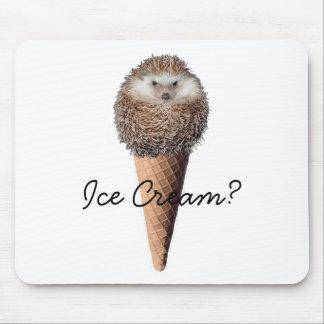 Hedgehog Ice Cream Mouse Pad