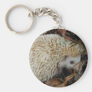 hedgehog in leaves keychain