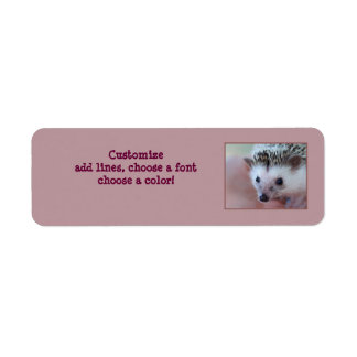 Hedgehog label return address label