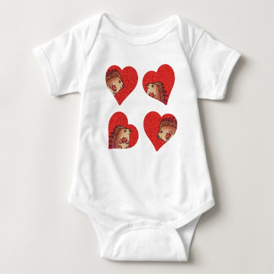 Hedgehog Love! Baby Bodysuit