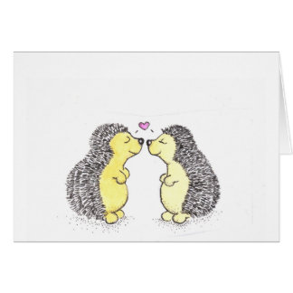Hedgehog Love Stationery Note Card