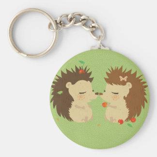Hedgehog Love Keychan Key Ring