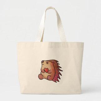 Hedgehog Love! Large Tote Bag