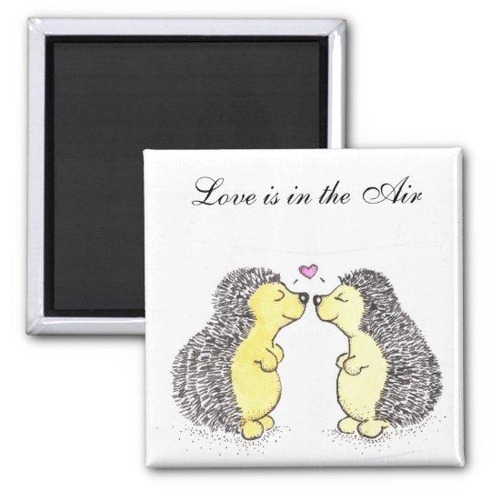 Hedgehog Love magnet