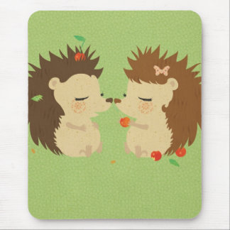 Hedgehog Love Mousepad