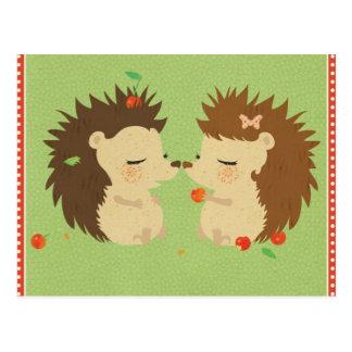 Hedgehog Love Postcard