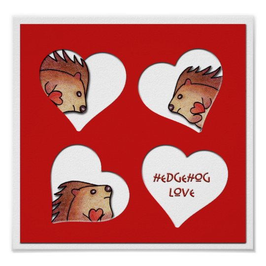 Hedgehog Love! Poster