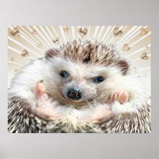 Hedgehog Love Poster