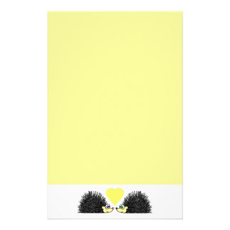 Hedgehog Love Stationery - Yellow