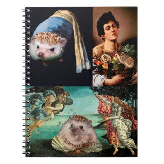 Hedgehog Masterpieces Spiral Notebook