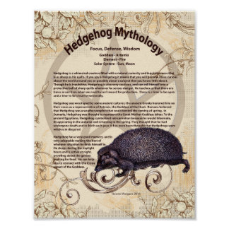 HEDGEHOG MYTHOLOGY POSTER