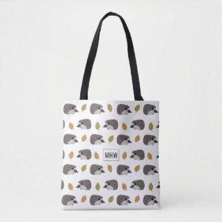 Hedgehog Pattern custom monogram bags