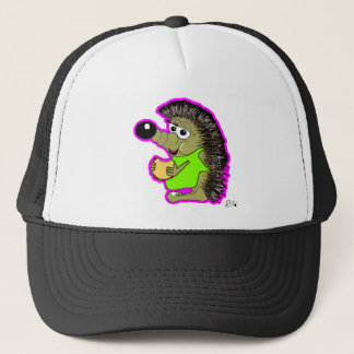 hedgehog pink trucker hat