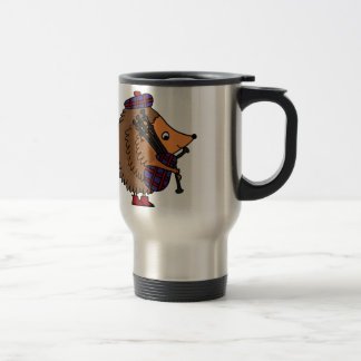 Hedgehog Playing Bagpipes Travel Mug