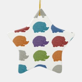 Hedgehog Pop Art Christmas Ornament