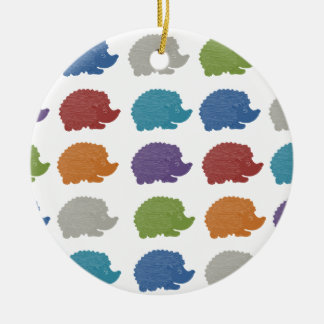 Hedgehog Pop Art Christmas Ornament