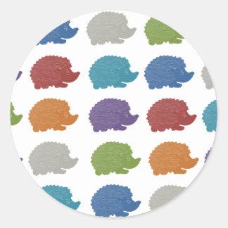 Hedgehog Pop Art Classic Round Sticker