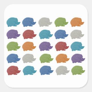 Hedgehog Pop Art Square Sticker
