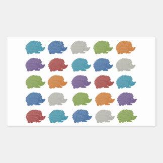 Hedgehog Pop Art Rectangular Sticker