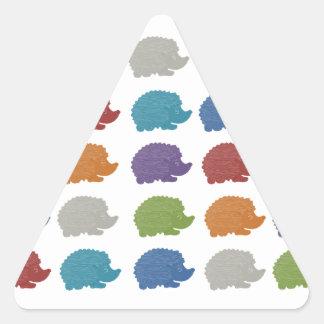 Hedgehog Pop Art Triangle Sticker