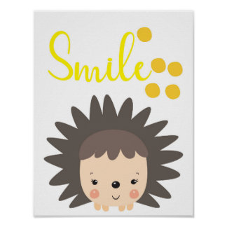 Hedgehog poster, smile poster