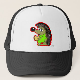 hedgehog red trucker hat