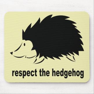 Hedgehog - Respect the Hedgehog Mouse Mat