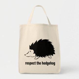Hedgehog - Respect the Hedgehog Tote Bag