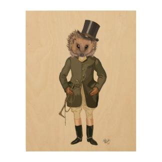 Hedgehog Rider Full Wood Print