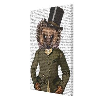 Hedgehog Rider Portrait Canvas Print