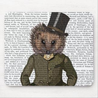 Hedgehog Rider Portrait Mouse Mat