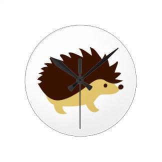 Hedgehog Round Clock