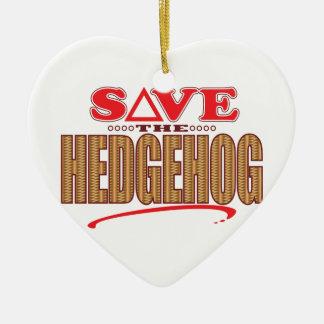 Hedgehog Save Christmas Ornament