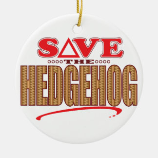 Hedgehog Save Christmas Ornament