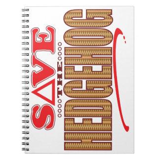 Hedgehog Save Notebook