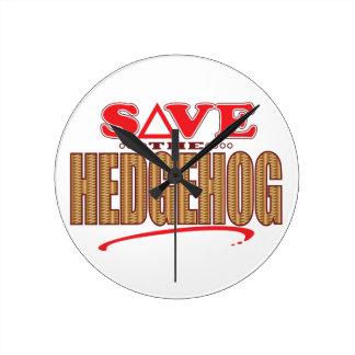 Hedgehog Save Round Clock