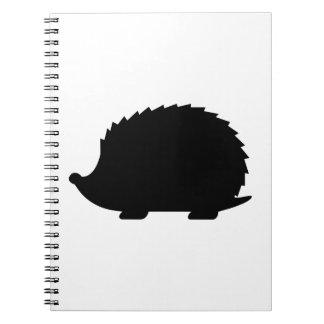 Hedgehog Silhouette Spiral Notebook