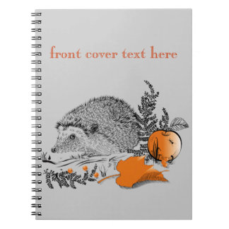 Hedgehog Spiral Note Book