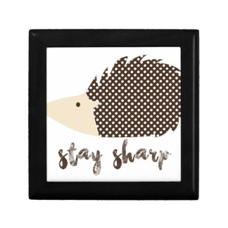 Hedgehog stay sharp gift box