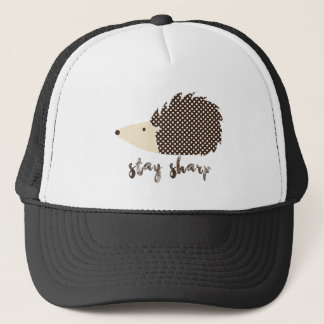 Hedgehog stay sharp trucker hat