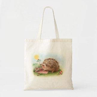 Hedgehog Summer afternoon Budget Tote Bag