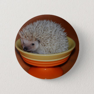 Hedgehog Sundae 6 Cm Round Badge