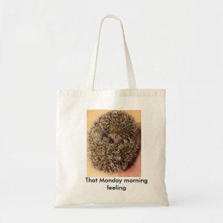 "Hedgehog ""That Monday morning feeling"" Tote bag"