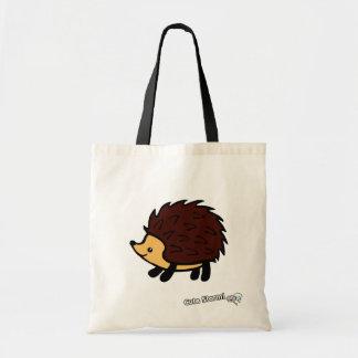 Hedgehog tote canvas bags