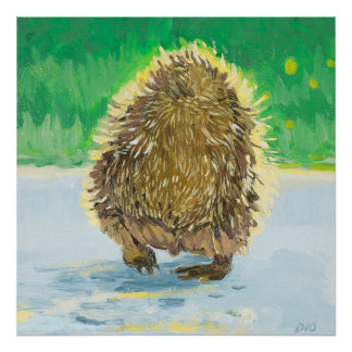 Hedgehog Tush, Adorable Hedge Hog Poster