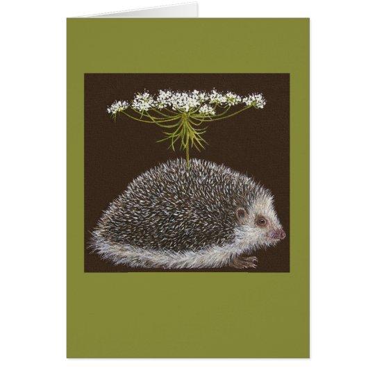 Hedgehog umbrella card