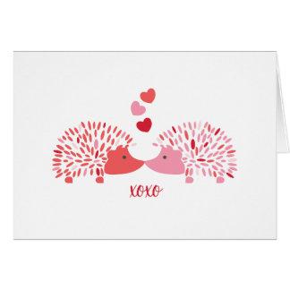 Hedgehog Valentine Card