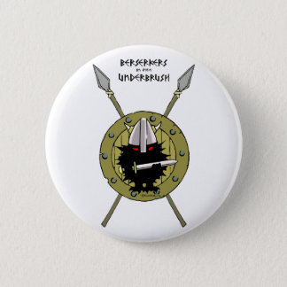 Hedgehog Viking on Shield 6 Cm Round Badge