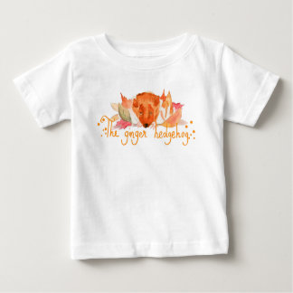 Hedgehog watercolor baby fine jersey T Shirt