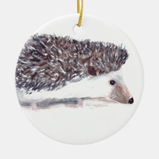Hedgehog wild animal wildlife christmas ornament